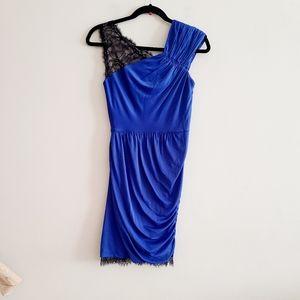 BCBGMAXAZRIA Blue And Black Lace Dress XS